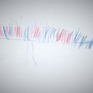 Red and Blue Stripes Dragon