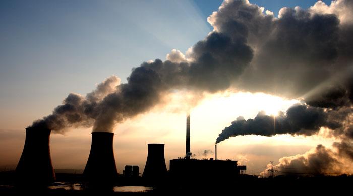 coal plant and smoke