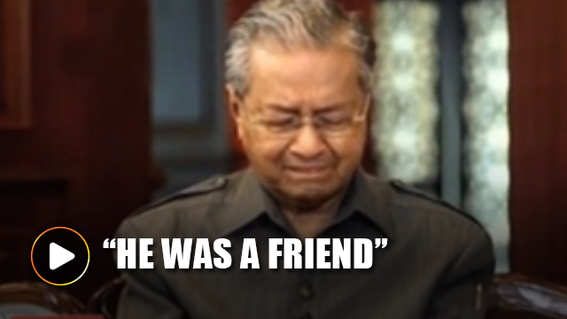 Mahathir cried